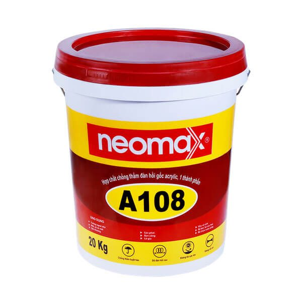NEOMAX A108 một thành phần, dạng lỏng, màu ghi xám, nhựa acrylic 100%