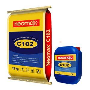 NeomaxC102 là hợp chất chống thấm gốc xi măng - polyme, 2 thành phần.NeomaxC102bao gồm hỗn hợp ở dạng bột (xi măng đặc biệt và phụ gia) kết hợp với thành phần nhựa polyme tổng hợp ở dạng lỏng.