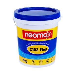 Neomax C102 Flex là hơp chất chống thấm đàn hồi gốc xi măng - polyme, 2 thành phần.Neomax C102 Flex bao gồm hỗn hợp ở dạng bột(xi măng đặc biệt và phụ gia) kết hợp với thành phần nhựa polyme tổng hợp ở dạng lỏng.