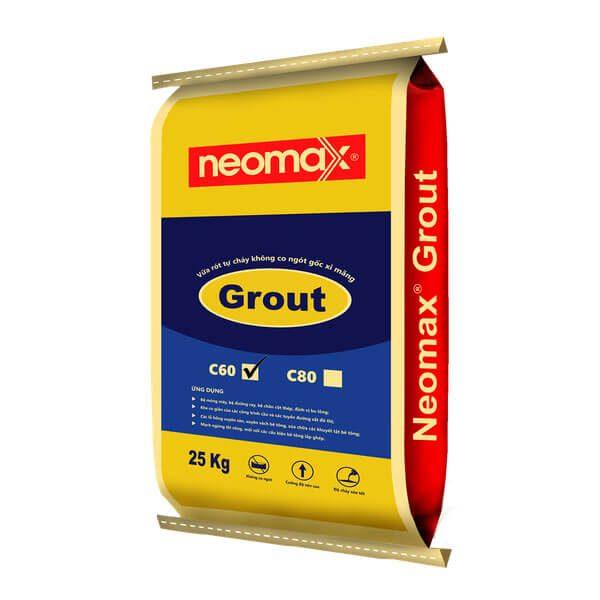 Neomax Grout C60 là loại vữa trộn sẵn gốc xi măng,có khả năng tự chảy, tự san bằng, không co ngót và cường độ chịu nén rất cao