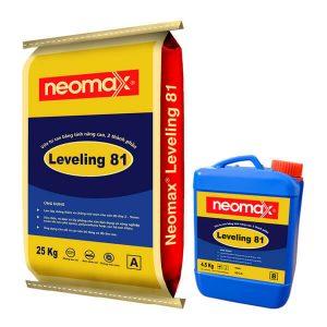 Neomax Leveling 81 là vữa tự san bằng, hai thành phần, xi măng và nhựa polymer.