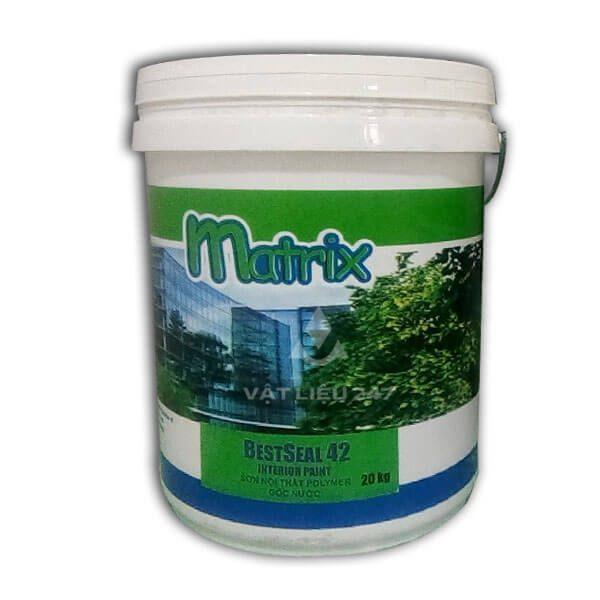 Bestseal 42 Interior Paint là sơn nước nội thất cao cấp dùng sơn phủ bề mặt bên ngoài nhà. Lớp sơn hoàn thiện có màng sơn bóng mịn, độ phủ cao, có khả năng chống thấm nước, chùi rửa dễ dàng.