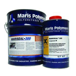 MARISEAL 300 là màng chống thấm và bảo vệ thi công dạng lỏng, không dung môi, nhựa cứng, thi công và đóng rắn nguội, gốc polyurethane hai thành phần