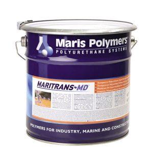 MaritransMD trong suốt, đàn hồi chắc chắn, một thành phần, polyurethane béo, lớp phủ rắn chắc, được sử dụng để chống thấm lâu dài.