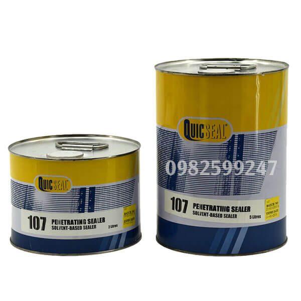 Quicseal 107 là chất thẩm thấu và bịt kín có độ nhớt thấp không màu thi công trên bề mặt bê tông, vữa xây và gạch.