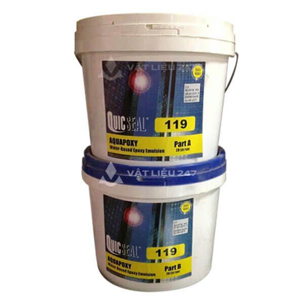 Quicseal 119 là sản phẩm màng chống thấm epoxy polyamide, hai thành phần, gốc nước, được thiết kế đặc biệt sử dụng cho chống thấm ngược với áp lực nước lớn.