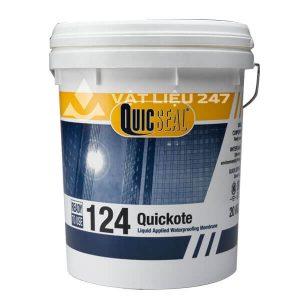 Quicseal 124 là màng chống thấm một thành phần, sẵn sàng để sử dụng, thi công dạng lỏng.
