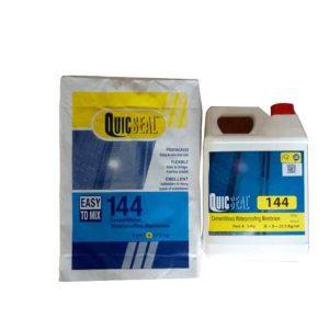 Quicseal 144 là sản phẩm màng chống thấm xi măng dẻo hai thành phần bao gồm nhựa tổng hợp pha trộn với hỗn hợp xi măng được chọn lọc và các chất phụ gia cao cấp khác