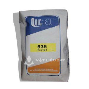 Quicseal 535 là chất làm cứng bề mặt một thành phần cho bê tông nguyên khối, được trộn sẵn tại nhà máy, chất lượng được kiểm soát, sẵn sàng để sử dụng.