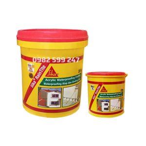 Sika RainTite là hợp chất chống thấm đàn hồi kháng UV dạng sệt gốc nhựa Acrylic bám dính tốt với nhiều loại vật liệu