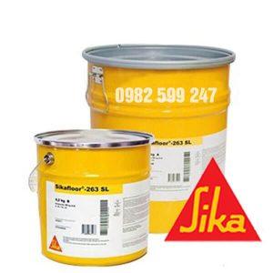 Sikafloor 263 RAL 6011/ 7032 / 7035làsản phẩmgốc nhựa Epoxy 2 thành phần, không dung môi và kinh tế.Dùng để sơn lót sàn bê tông và lớp vữa trát hay sơn hoàn thiện cho sàn nhám