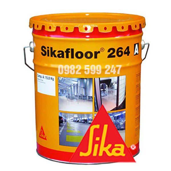 Sikafloor 264 RAL 6011/ 7032 / 7035 là sản phẩm gốc nhựa Epoxy 2 thành phần, không dung môi và kinh tế.Dùng để sơn lót sàn bê tông và lớp vữa trát hay sơn hoàn thiện cho sàn nhám