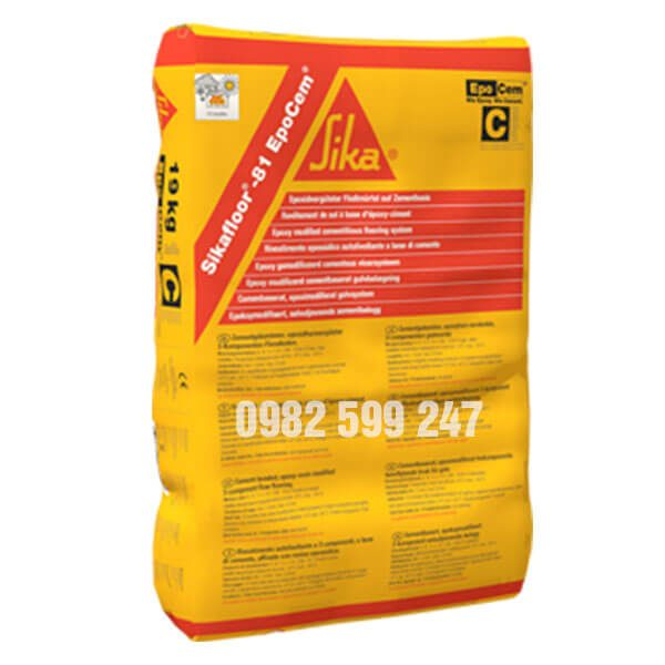 Sikafloor 81 Epocem là vữa tự san bằng gốc xi măng epoxy cải tiến có 3 thành phần dùng để trám khe, hoàn thiện bề mặt, ngăn ẩm và làm phẳng nền bê tông