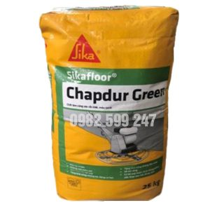 Sikafloor Chapdur Green là chất làm cứng sàn gốc xi măng, sử dụng được ngay ở dạng rắc khô. Sikafloor Chapdur Green có chứa các cốt liệu thiên nhiên rất cứng có kích cỡ thành phần hạt được chọn lọc kỹ